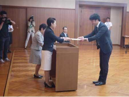 東京都足立区長からの表彰